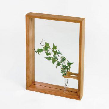 一輪挿し付き壁掛け鏡ファドー
